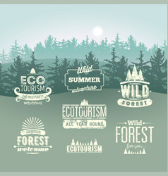 Set tourism retro labels vintage badges and logo vector