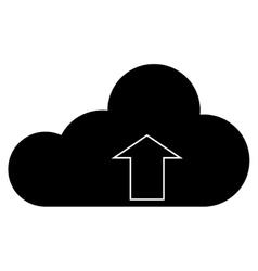 single cloud with upload arrow icon vector image