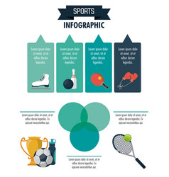 Sports infographic design vector