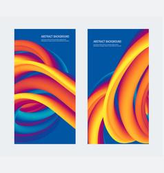 Square gradient background 3d cover design vector