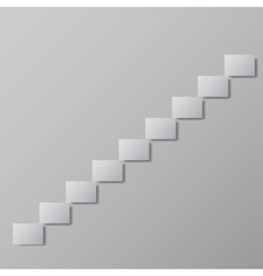 Staircase upstairs conceptual image vector