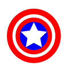 the sign of the round shield in the national vector image