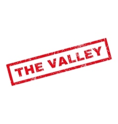 The Valley Rubber Stamp vector