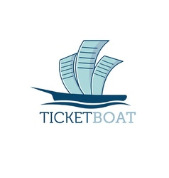 Ticket boat vector
