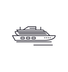 travel cruise ship line icon concept travel vector image