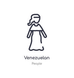 Venezuelan outline icon isolated line from people vector