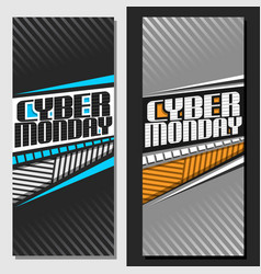 vertical banners for cyber monday vector image