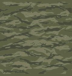 Vietnam tiger stripe camouflage seamless patterns vector