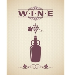 Vintage Wine Label Design Background vector image