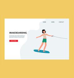 Website for wakeboarding kind summer extreme vector