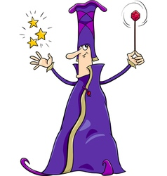 Wizard character cartoon vector