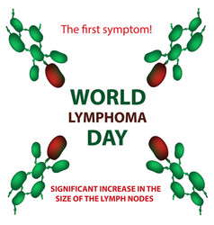 World lymphoma day increase size of lymph nodes vector
