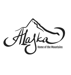alaska mountain design vector image