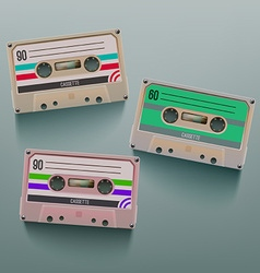 Cassette Icon Set vector image