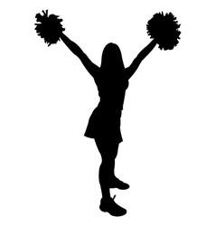 Cheerleader vector image vector image