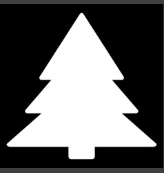 christmas tree the white color icon vector image vector image