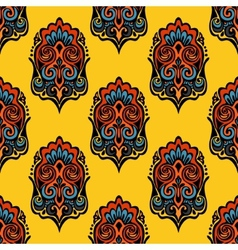 Damask Seamless Pattern Festive vector image