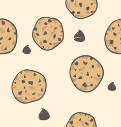 doodle cookies seamless pattern vector image