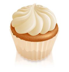 Fairy cake cupcake vector
