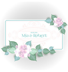 flower wedding invitation card vector image vector image