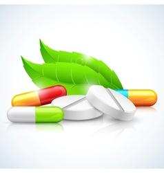 Herbal Natural Medicine vector image vector image