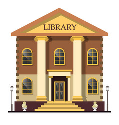 library exterior outdoor view vector image