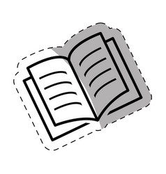 Open book school thin line vector
