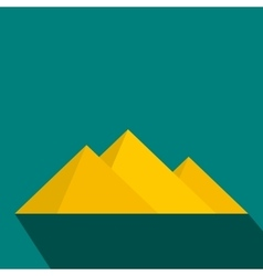 Pyramids of Egypt icon flat style vector image
