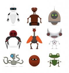 Set of different robots vector