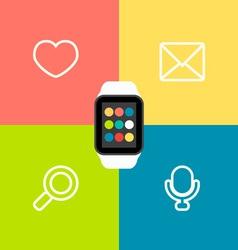 Smart Watch Flat vector image vector image