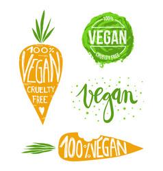 vegan set vector image vector image