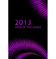2013 snake purple frame vector image vector image