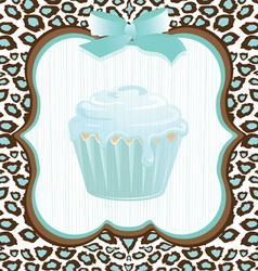 cupcake birthday invitation vector image vector image