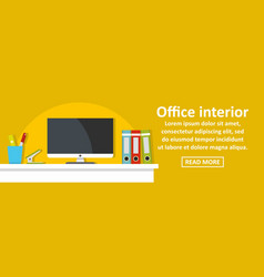 office interior banner horizontal concept vector image vector image