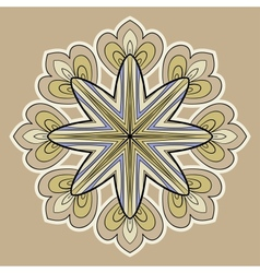 Ornamental round lace circle ornament vector image