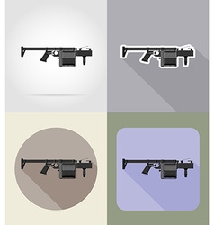 Weapon flat icons 11 vector