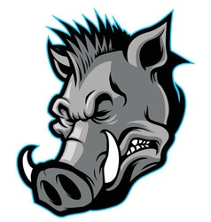 Wild boar head mascot vector