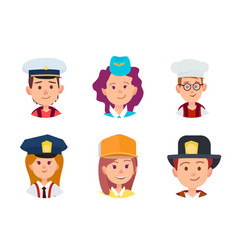 concept of six children in different professions vector image