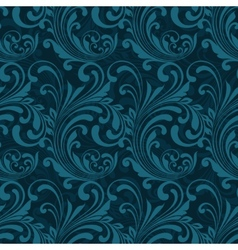 Dark blue ornamental seamless vector image