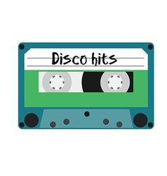 Cassette disco hits vector image