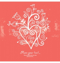 floral background greeting card vector image vector image