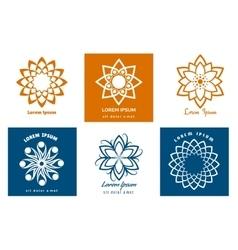 Geometric symbol logo templates vector image vector image