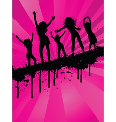 grunge party girls vector image vector image