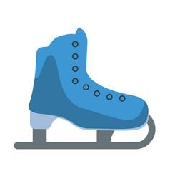 ice skate sport leisure vector image