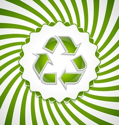 Recycle symbol icon vector image vector image