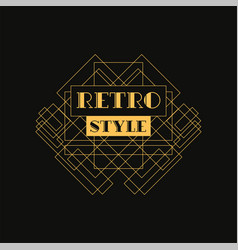 Retro style logo design luxury vintage geometric vector