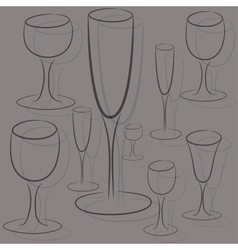 set of glasses of different sizes vector image vector image