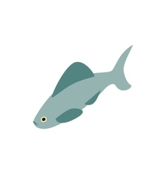 Shark icon isometric 3d style vector image