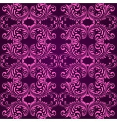 Vertical purple ornamental background vector image