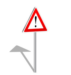 3d attention sign vector image